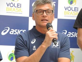 Renan Dal Zotto evento São Paulo vôlei (Foto: David Abramvezt)