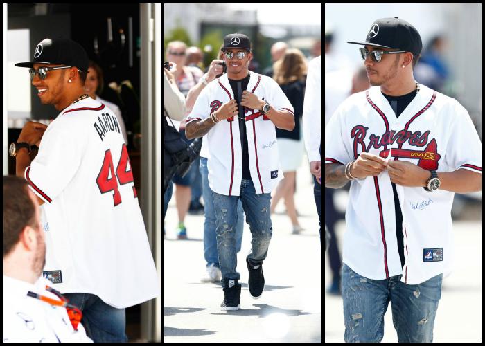Lewis Hamilton camisa Atlanta Braves