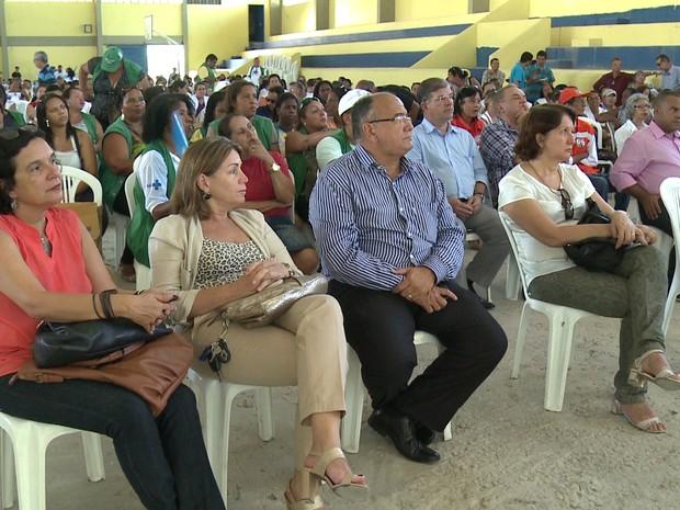 Plano de contingência foi divulgado na Vila Olímpica de Rio Doce, em Olinda (Foto: Reprodução/TV Globo)