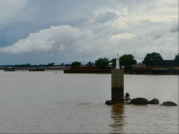 Pedra do Guindaste, Macapá, Amapá, (Foto: Fabiana Figueiredo/G1)
