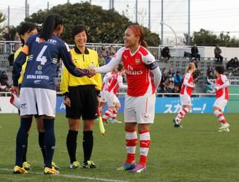 São José Futebol Feminino x Arsenal (Foto: Mengo DoJapao/ Divulgação)