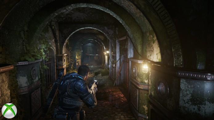 Em algumas cenas de Gears of War 4 a diferença entre versões é praticamente imperceptível (Foto: Reprodução/Hardcore Gamer)