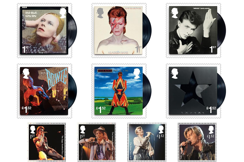 Selos de David Bowie lançados no Reino Unido (Foto: Divulgação)