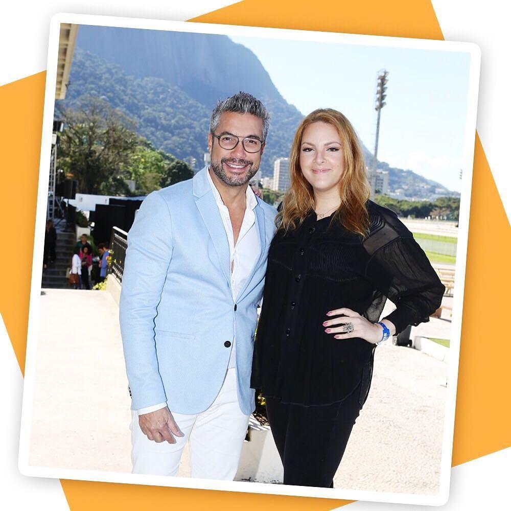 Fernando Torquatto e Ranata Kalil, editora de beleza da Glamour (Foto: Reginaldo Teixeira)