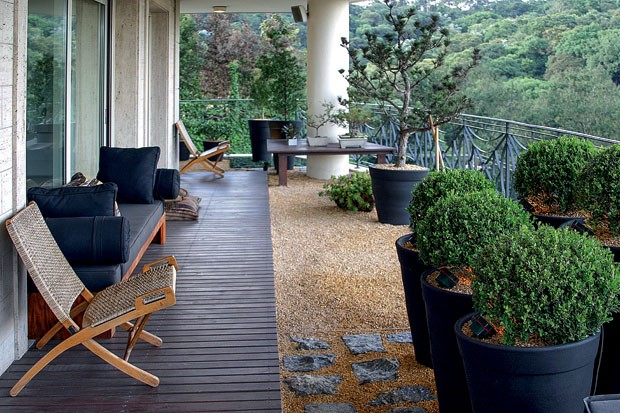 jardim em terraco de apartamento