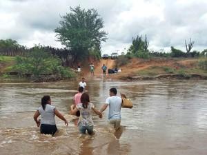 Ligação com as cidades vizinhas está interrompida (Foto: Divulgação/Prefeitura de Dom Inocêncio)