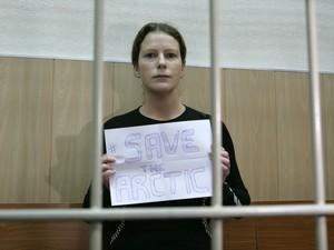 Ana Paula Maciel, brasileira detida na Rússia (Foto: AFP)