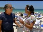 Verão começa com muito sol, vento e mar 'tipo Caribe' no litoral do Rio