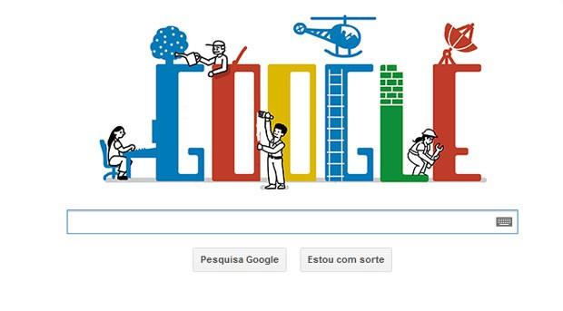 Google muda logotipo em homenagem ao Dia do Trabalho (Foto: Reprodução)