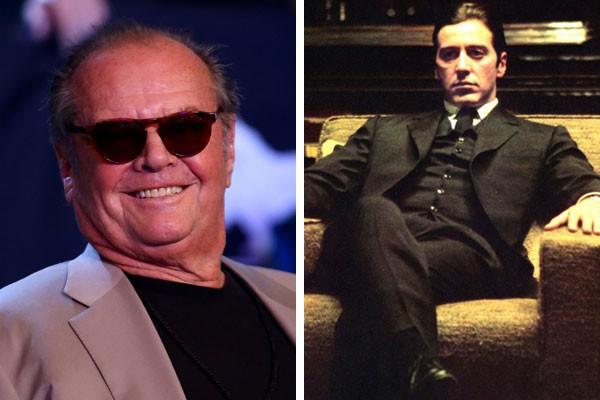 O ator Jack Nicholson, e Al Pacino como Michael Corleone (Foto: Getty Images/Reprodução)