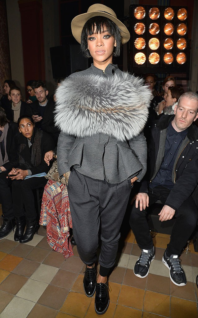Na fila A do desfile da Lanvin, em 2014 (Foto: Getty Images)