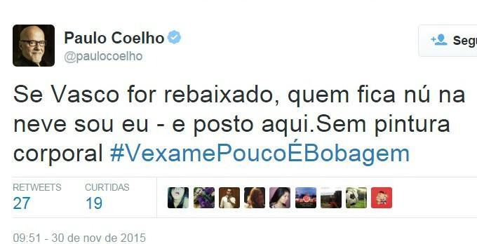 Twitter Paulo Coelho Vasco