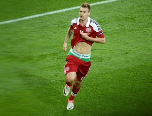 Bendtner, Dinamarca, Eurocopa (Foto: Agência AFP)