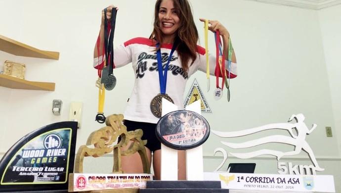 Brena Karlena representará Rondônia em competição de crossfit  (Foto: Brena Karlena /arquivo pessoal )