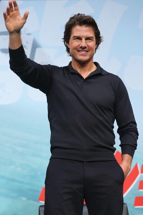 Tom Cruise surtou de felicidade em 2005 (Foto: Getty Images)