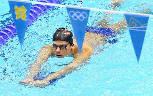 Cielo faz o primeiro treino no Centro Aquático dos Jogos de Londres