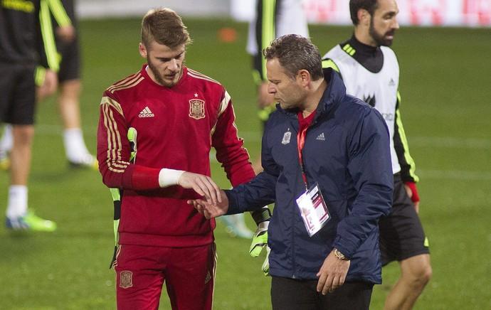 David de Gea, treino Espanha (Foto: EFE)