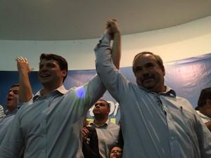 Bernardo Rossi e Baninho Albano Filho, candidato a vice-prefeito (Foto: Divulgação / Facebook Bernardo Rossi)