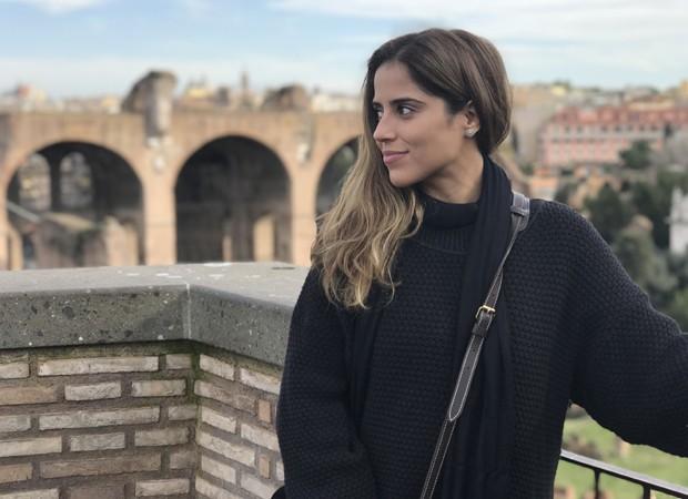 Camilla Camargo durante suas férias na Itália (Foto: Arquivo pessoal)