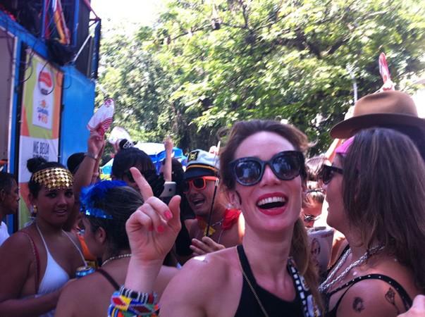 Mariana Ximeses, musa do bloco que toca parado na Gávea (Foto: João Bandeira de Mello/G1)