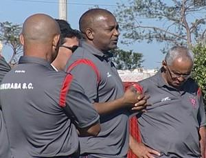 Apresentação Uberaba Sport Campeonato Mineiro Segunda Divisão Gérson Evaristo (Foto: Reprodução/TV Integração)