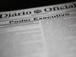 Projeto de Lei foi publicado no Diário Oficial desta sexta-feira (6) (Foto: Jonathan Lins/G1)