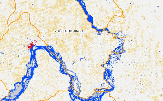 Vitória do Xingu em 2013 (Foto: MapBiomas)