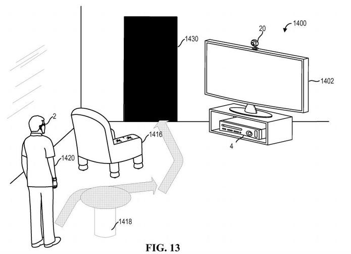 Microsoft Glass também poderia ser usado para jogos com realidade aumentada e possível integração com Xbox (Foto: Divulgação/Patentscope)