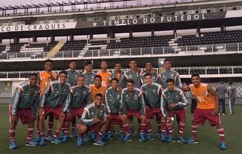 Fluminense bate Santos pelas quartas de final da Copa do Brasil sub-17