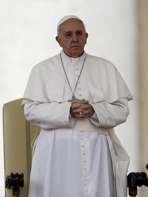 O papa Francisco, durante cerimônia religiosa no Vaticano (Foto: Gregorio Borgia/AP)