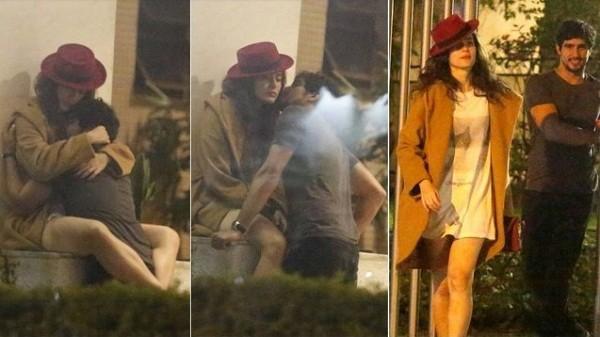 Maria e Góes foram flagrados aos beijos depois da festa de aniversário de Sophie Charlotte  (Foto: Ag News)