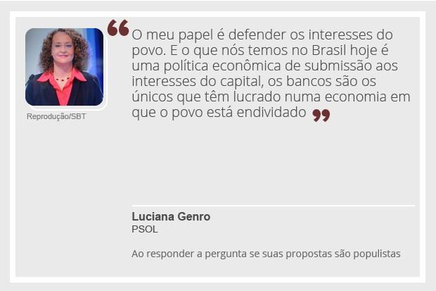 Luciana Genro - debate - 2 (Foto: Reprodução)