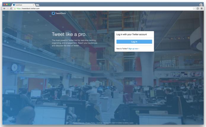 Usuários do TweetDeck só precisarão inserir senha uma vez para usar o Twitter (Foto: Reprodução/Twitter)