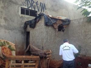Casa onde vivia menina de oito anos estuprada por ex-companheiro da mãe em Campo Grande (Foto: Graziela Rezende/G1 MS)