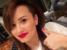 Demi Lovato pinta o cabelo e volta a ser morena