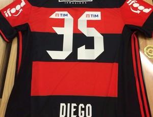 Diego usará a camisa 35 no Flamengo
