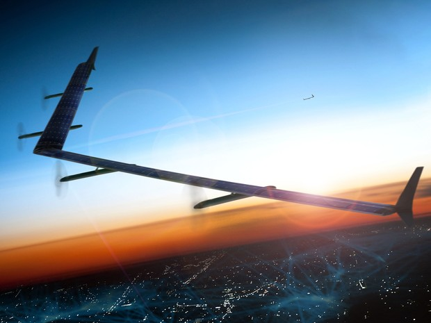 Facebook desenvolveu drone para levar internet a lugares sem conexão (Foto: Divulgação)