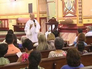 Missa do Recírio 2015 em Santarém (Foto: Reprodução/TV Tapajós)