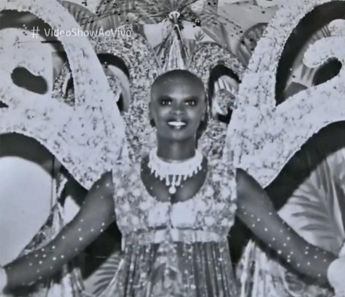 Pinah em sua fase de passista da Beija-Flor (Foto: Vídeo Show / TV Globo)