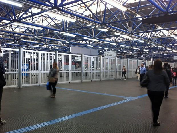 Estação Barra Funda tem movimento tranquilo na manhã deste sábado (7) (Foto: Letícia Mendes/G1)