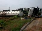 Mulher de 22 anos morre após caminhão tombar em Taubaté, SP