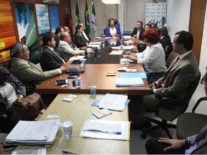 Em reunião, governadora do RN anuncia corte de gastos (Foto: Ivanizio Ramos)