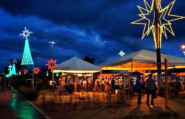 Diversas atividades natalinas serão realizadas no Parque da Família, em Aparecida de Goiânia, Goiás (Foto: Reprodução)