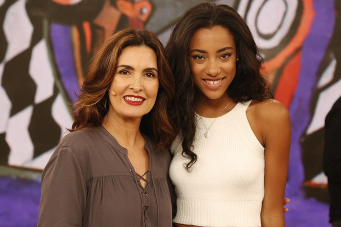 Fátima com a atriz Yara Charry (Foto: Ellen Soares/Gshow)