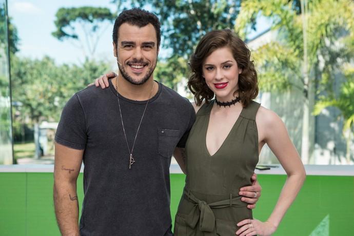 Joaquim Lopes e Sophia Abrahão no comando do 'Vídeo Show' (Foto: Artur Meninea/Gshow)