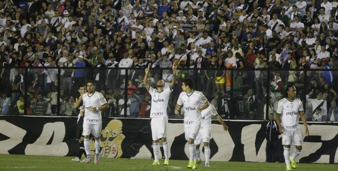 Comemoração gol Vasco x Palmeiras (Foto: Agência O Globo)