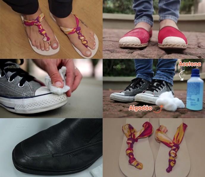 Assista aos testes para impermeabilizar, customizar e limpar calçados (Foto: Divulgação)