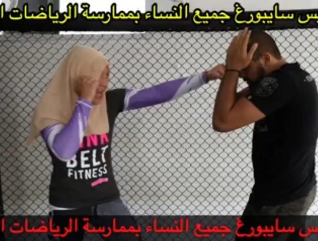 BLOG: Cyborg treina vestindo véu islâmico em apoio a mulheres; assista ao vídeo