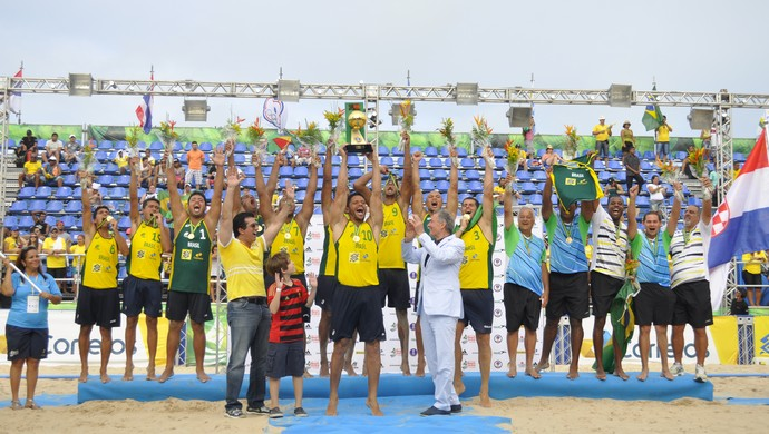 Brasil campeão mundial handebol de praia (Foto: Anderson Stevens/Photo&Grafia)