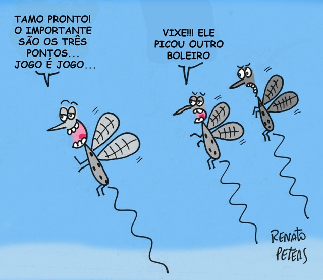 Cuidado com a dengue- Charge Peters